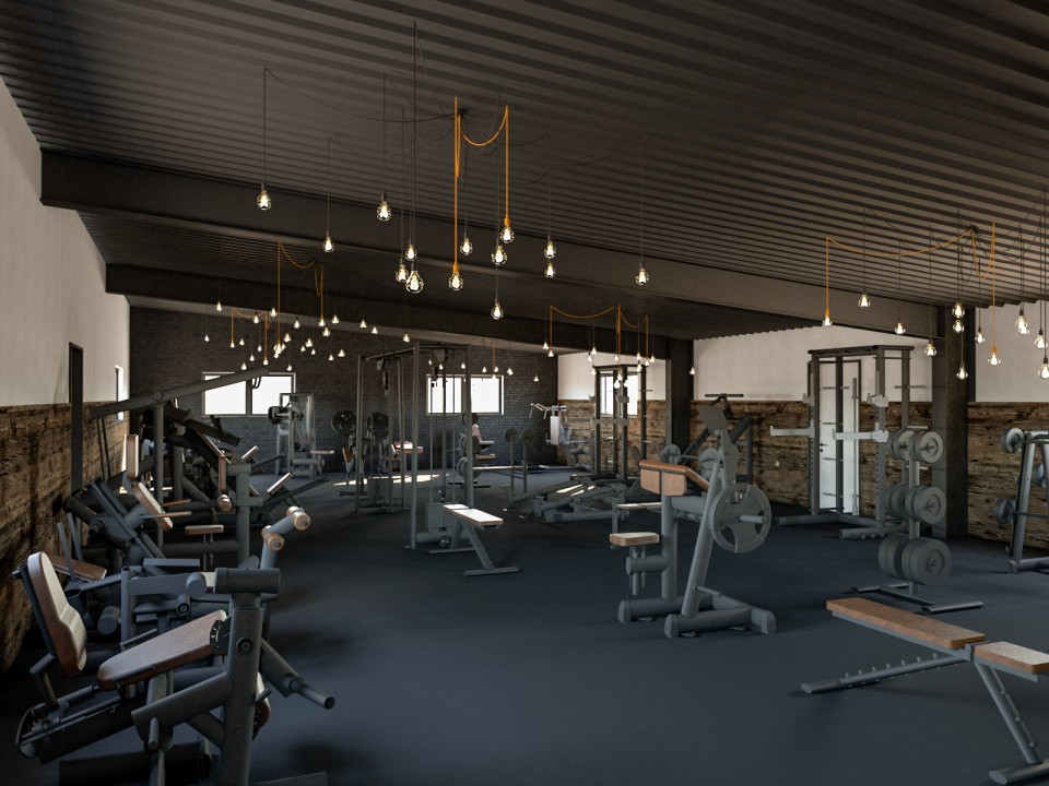 Fitnesstudio Effectiv | Visualisierung Innenarchitektur