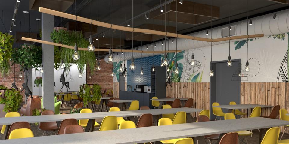 Restaurant Innenarchitektur | Visualisierung des Kiddy Dome - Swiss Family Center in Rohrbach